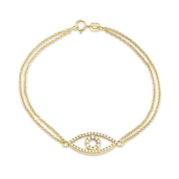 Double Chain Evil Eye Bracelet