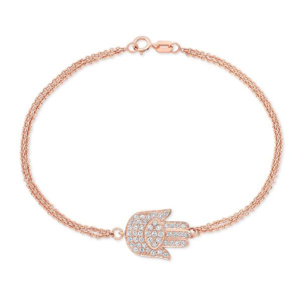 Double Chain Hamsa Bracelet