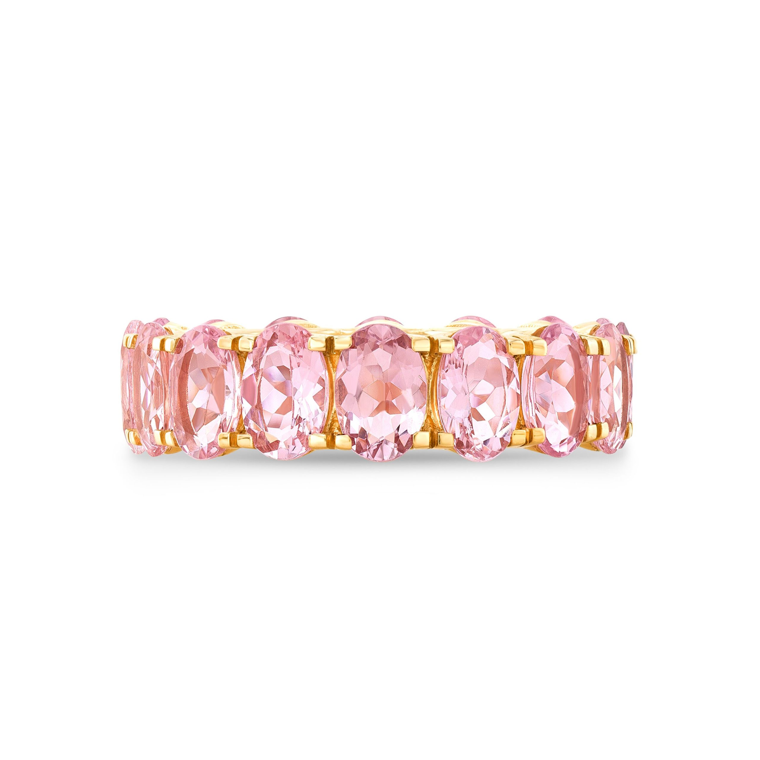 Alina Eternity Oval Morganite Ring