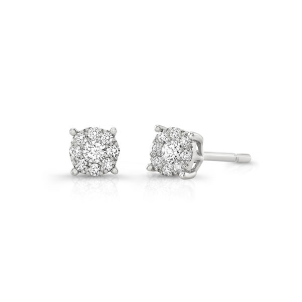 0.26ct. Diamond Illusion Studs