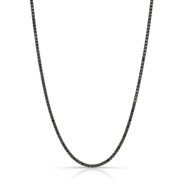 12.11ct. Black Diamond Tennis Necklace